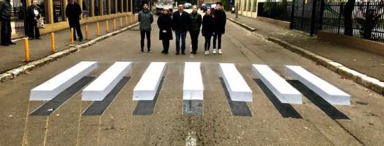 Se poate şi în România! Prima trecere de pietoni 3D a fost realizată şi inaugurată în numai câteva zile