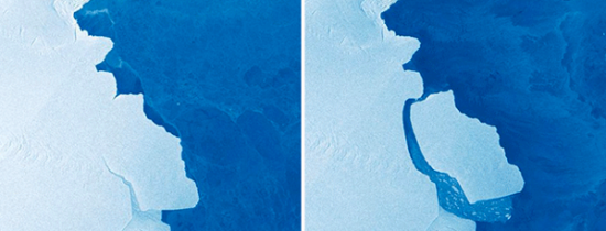 O bucată de gheaţă uriaşă s-a desprins de estul Antarcticii. ''Mă bucur să văd ruperea acestui gheţar''