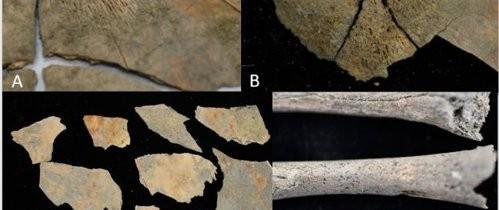 Doi bebeluşi care au murit acum 2.100 de ani, înmormântaţi cu ''căşti'' realizate din cranii