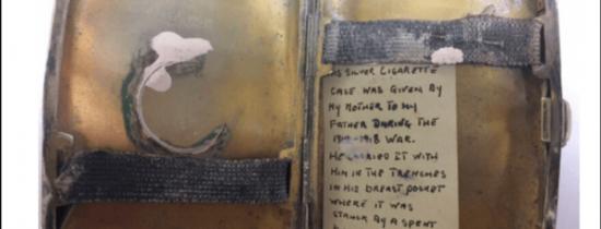 Viaţa unui soldat care a luptat în Primul Război Mondial a fost salvată de o tabacheră