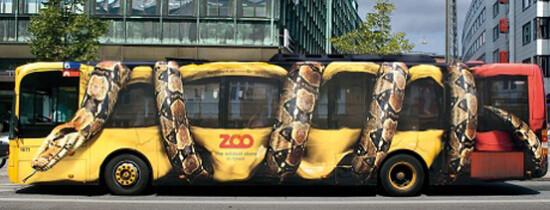 13 panouri publicitare creative pe autobuze
