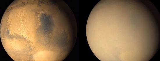 Furtunile masive de nisip de pe Marte duc la eliminarea apei de pe Planeta Roşie