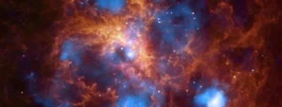 Un număr uriaş de stele cu o masă de 200 de ori mai mare decât cea a Soarelui a fost descoperit într-o galaxie vecină