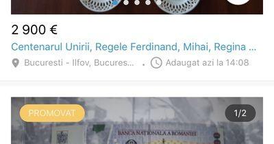 Cu cât se vând pe internet bancnotele lansate de BNR pentru Centenar