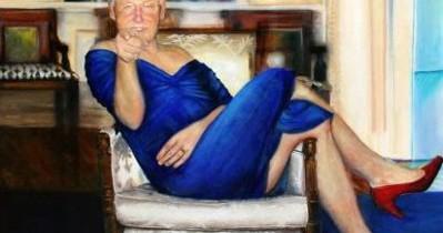 Un tablou cu Bill Clinton în rochie, găsit în casa miliardarului care s-a sinucis în închisoare